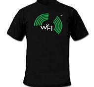 economico -suono e la musica meter spettro attivato vu el t-shirt Visualizer (2 * aaa)