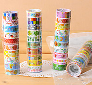 cheap -Fancy Adhesive Scrapbooking Adhesives Tape 2.2 M(10 PCS Random Color)
