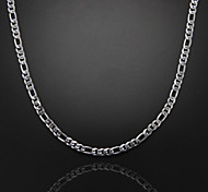 cheap -Others Shape Unique Design Fashion Chain Necklace Silver Plated Chain Necklace Christmas Gifts Party Gift Daily Casual