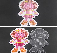 1PCS Template Clear Fuse Beads Pegboard Girl Daughter Pattern for 5mm Hama Beads DIY Jigsaw