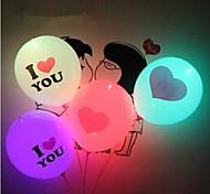 Coway Valentine's Day Lighting Balloon I LOVE YOU LED Luminous Balloon Giant Heart(Random Color)