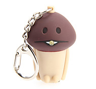 LED Lighting Key Chain Mushroom Key Chain LED Lighting Sound ABS Plastic