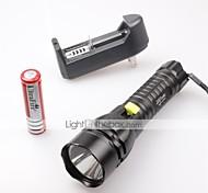 Недорогие -Светодиодные фонари Светодиодная лампа 1500 lm 5 Режим Cree XM-L2 T6 с батареей и зарядным устройством Водонепроницаемый