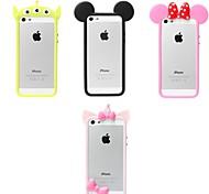 симпатичный каркас мягкий силиконовый мягкий чехол для iphone 5 / 5s iphone cases