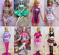 Принцесса Костюмы Для Кукла Барби Платья Для Девичий игрушки куклы