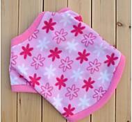 Недорогие -Кошка Собака Толстовка Одежда для собак На каждый день Цветы Розовый Костюм Для домашних животных