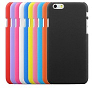 cheap -Case For Apple iPhone 6 iPhone 6 Plus Frosted Back Cover Solid Color Hard PC for iPhone 6s Plus iPhone 6s iPhone 6 Plus iPhone 6