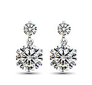Women's Stud Earrings Costume Jewelry Sterling Silver Imitation Diamond Jewelry For