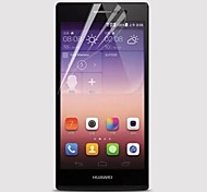 [5-Pack]Professional High Transparency LCD Crystal Clear Screen Protector with Cleaning Cloth for Huawei Ascend P7