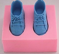 A Pair of Sneakers Fondant Cake Chocolate Silicone Mold Cake Decoration Tools,L7.5cm*W6cm*H3.2cm