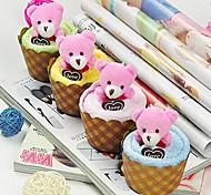 подарок на день рождения торт форма волокна творческой полотенце (случайный цвет)