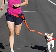 Dog Hands Free Leash Adjustable/Retractable / Running / Hands free Solid Red / White / Green / Pink / Purple Nylon