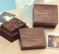 baratos -os selos padrão de letras maiúsculas vintage ajustados (28 pçs / conjunto)