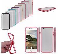 PC + TPU 2 в 1 комбо бампер кадр случае с металлическими пуговицами для Iphone 6 плюс (разных цветов)