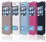 ТПУ новый кожаный чехол смарт роскошь флип для iphone 6 плюс (разных цветов)