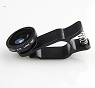 KLW 3 in 1 Wide Angle lens /Macro lens/180 Fish Eye Lens/ Kit Set for iPhone 5/6/6plus/7/7 Plus/iPad