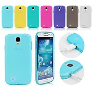 abordables -TPU Soft Case with Dust Plug for Samsung Galaxy S4 mini I9190 (Assorted Colors)