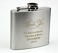 cheap -Personalized Stainless Steel 5-oz  Hip Flask-Thank You