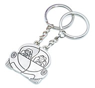 cheap -Personalized Engraving Drove Lovers Metal Couple Keychain