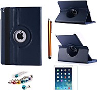 cheap -Litchi Rotating PU Leather with Protective Film、Stylus and Dust Plug for iPad Air 2
