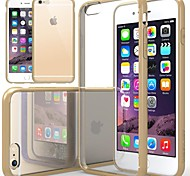 DF Luxurious Cushion Clear Back Cover with Silicone Bumper for iPhone 6(Assorted Color)