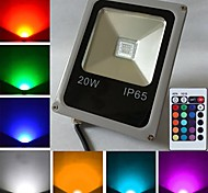 Недорогие -10W 450-700 lm LED прожекторы 1 светодиоды Высокомощный LED На пульте управления RGB AC 85-265V