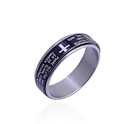 cheap -Men's Band Ring Black Stainless Steel Cross Others Unique Design Fashion Daily Costume Jewelry