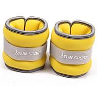 неопрен желтый запястье / лодыжки вес 0,5 кг (пара) 1кг набор заполнена железным песком для запуска упражнения