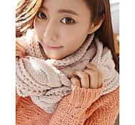 женские осень и зима твист вязание теплые шарфы