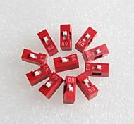 1p dip switch interruptor de codificación de paso de 2,54 mm (10 piezas)