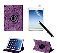 Trauben-Muster PU-Leder Ganzkörper-Gehäuse mit Touch-Pen und Schutzfilm 2 PC für ipad Luft 2 / ipad 6