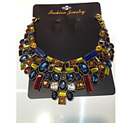 Gift Necklace Vintage Flower Necklaces & Pendants Crystal Choker Statement Necklace
