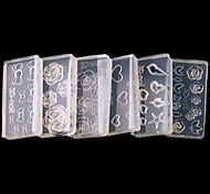 Недорогие -5 3D-акриловые формы для ногтей Цветы Мультяшная тематика Мода Милый Высокое качество Повседневные