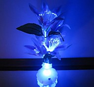 abordables -flores de colores florero flores fibra óptica llevó la luz del nigth