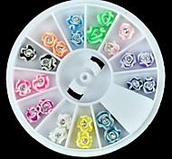 24pcs FIMO большой размер 3d выросли Nail Art Decoration