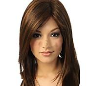 Недорогие -Парики из искусственных волос Прямой Стрижка каскад Водопад Коричневый Жен. Полностью ленточные Средний Длинные Искусственные волосы