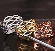 Недорогие -полые из 18k золотое кольцо с кольцом изысканный подарок классический женский стиль
