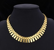 cheap -Women's Gold Plated Choker Necklace Collar Necklace Vintage Necklace  -  Tassel Statement Jewelry Silver Golden Necklace For Wedding