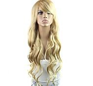 28-дюймовый давно высокая температура волокна волна женского элегантной моды синтетический знаменитости парик