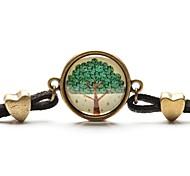 tiempo árbol de arte colgante de collar de la vida del árbol joya pulsera cabujón de cristal