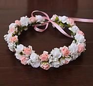 cheap -Women's Satin Rubber Headpiece-Wedding Special Occasion Outdoor Flowers Wreaths
