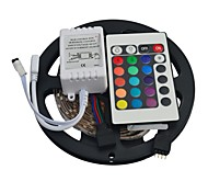 cheap -5M 300EDs 3528 RGB Not Waterproof with 24Keys IR Remote Controller Flexible LED Light Strips