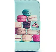 COCO FUN® Colorful Macarons Pattern PU Leather Full Body Case with Film and USB Cable and Stylus for iPhone 5C
