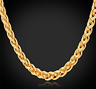 cheap -Women's Gold Plated Choker Necklace Chain Necklace  -  Fashion Golden Necklace For Wedding Party Daily