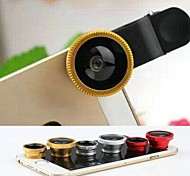 3 in 1 Fisheye and Macro Lens and 0.67X Wide Angle with Lens Cap and Bag for iPhone 4/4S/5/5S/6/6 Plus