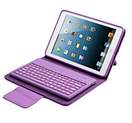 cheap -Case For iPad Mini 3/2/1 with Stand with Keyboard Flip Full Body Cases Solid Color Hard PU Leather for