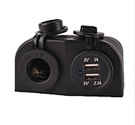 12/24V Marine Boat Caravan Car Power Socket +Usb Charger Power Adapter