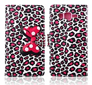 Attractive Leopard Print Pattern PU Leather Full Body Cases with Stand for Samsung Galaxy Grand Prime G530H