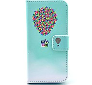 COCO FUN® Painting Circle Floral Pattern PU Leather Full Body Case with Film and USB Cable and Stylus for iPhone 5C