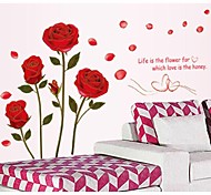 cheap -Phnom Penh Romantic Roses Wall Stickers